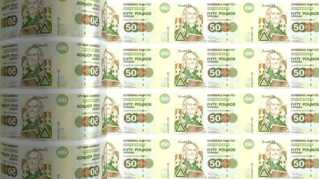 Scotland Pound printing - animation video