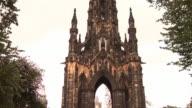 Scott Monument in Edinburgh - HD & PAL video