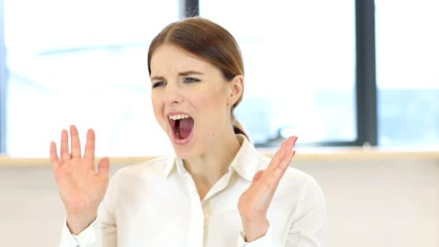 Screaming Woman in Office video