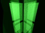 Screens with binary code moving video