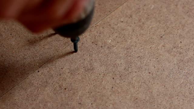 screw twists on the floor video