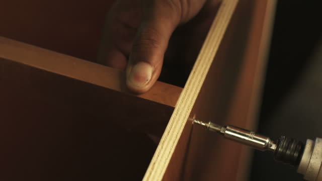 HD: Screwing two pieces of wood together video