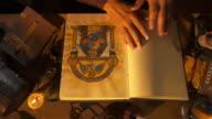 HD: Scribe Examining His Book video