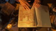 HD: Scribe Examining Sacred Sketches video