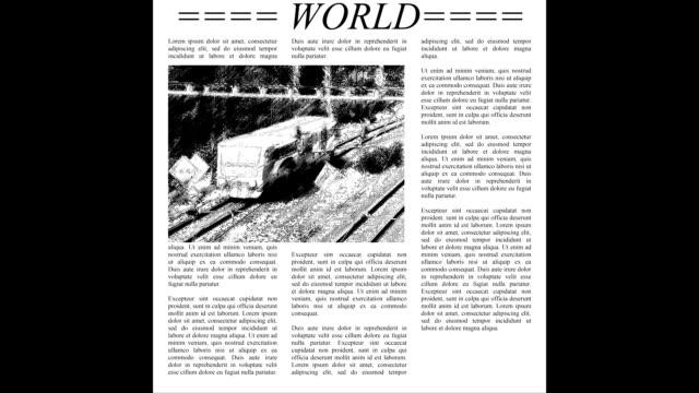 Scrolling newspaper video