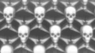 Scrolling Skulls and Crossbones for Halloween, 5 differents loopable versions. video