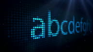 LED Scrolling Text On Black - TheAlphabet (Full HD) video