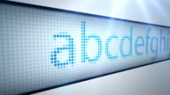 LED Scrolling Text On White - The Alphabet (Full HD) video