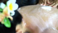 scrub beauty treatment in the health spa video