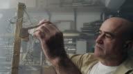 Sculptor creates a clay sculpture video