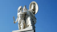 PAN Sculpture Of Athena And The Hero On Berlin Schlossbruecke video