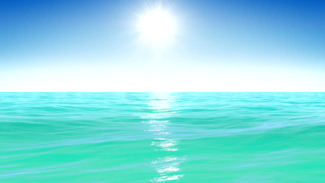 Sea and sun. Blue sky. Looped animation. HD 1080. video