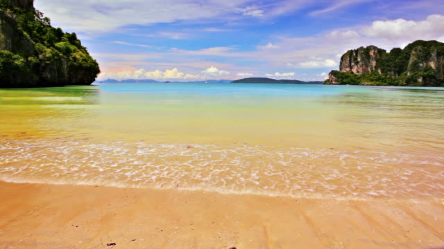 Sea and tropical island video