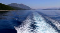 Sea behind a boat video