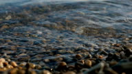 Sea Braking Against Stones And Pebbles On a Beach, Waves of Pure Water video