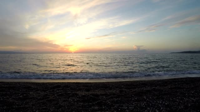Sea, Coast and Sunset, Wild Nature, Rotation Camera, Real Time, South Italy video