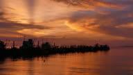 Sea evening video
