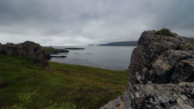 Sea in Iceland fjord, in summer video