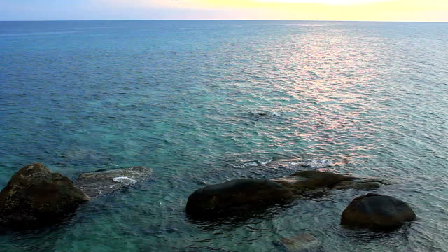 Sea landscape with the rock video