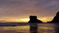 sea shore with rocks and cliff in canoa ecuador video