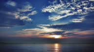 Sea sunrise video
