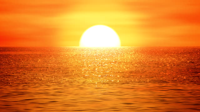 Sea sunset - loopable, HD, NTSC video