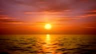 sea sunset video