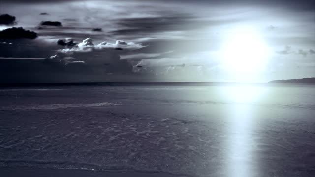 sea. Sunset video