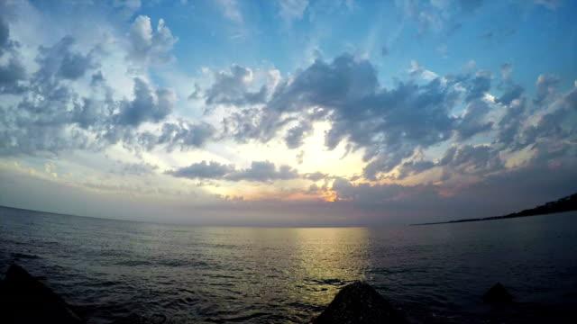 Sea. Time lapse video