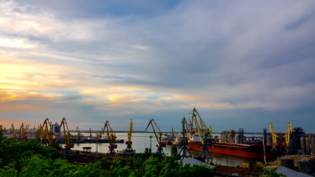 Sea Trading Port Activity. video