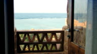 Sea view from balcony video