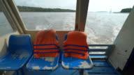 Sea wake behind Cruise ship. video