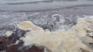 Sea Wastewater and sea pollution, video hd video