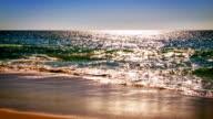 Sea wave in sun light video