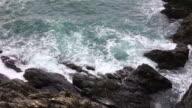 Sea, waves and rocks video