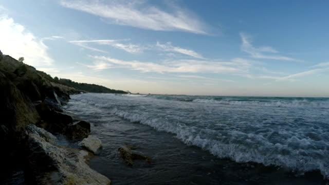Sea waves breaking video