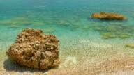Sea waves crashing over rocks on wildest beach in Montenegro video
