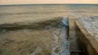 Sea Waves Rolling On Pierce video