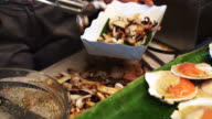 Seafood barbecue, delicious stall food selling at thai beach video