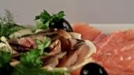 Seafood plate video