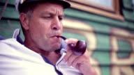 seaman smoking tobacco pipe video