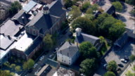 Seamens Bethel  - Aerial View - Massachusetts,  Bristol County,  United States video