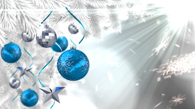 Seamless christmas scene with copy space and decorations video
