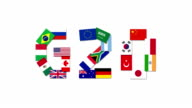 Seamless loop animation of the G20 nations video