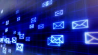 seamless loop background flying mails video