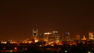 Seamless loop lower third downtown Nashville at night HD video
