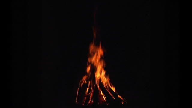 Seamless Loop of Campfire. 1080P. video