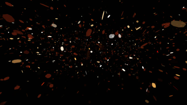 4K seamless loop of falling particles on black background video