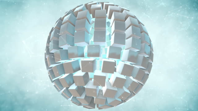 Seamless looping abstract cubes background. video