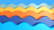 Seamless looping animated wave background video